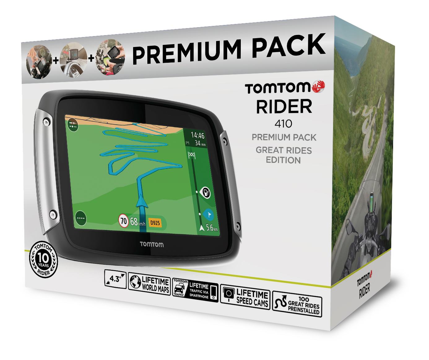 tomtom rider 410 great rides edition launched bhp bikes. Black Bedroom Furniture Sets. Home Design Ideas