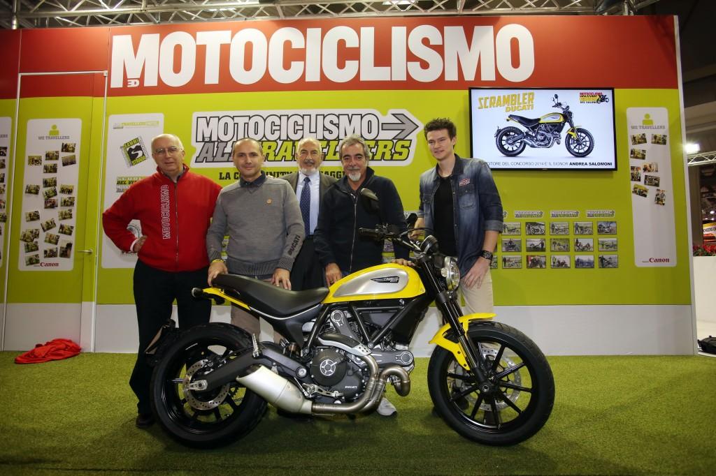 "Eicma 2014 Visitors Award The Ducati Scrambler ""most Beautiful Bike Of Show"""