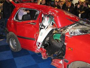 Honda Fireblade Crash